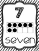 Black/white number wall cards