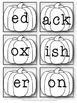 Black/White Pumpkin Nonsense Words
