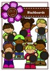 Blackboards and Kids Digital Clipart (color and black&white)