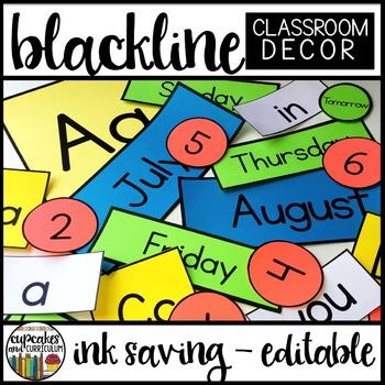 Blackline Classroom Decor