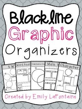 Blackline Graphic Organizers for Reading - Upper Elementary (B&W)