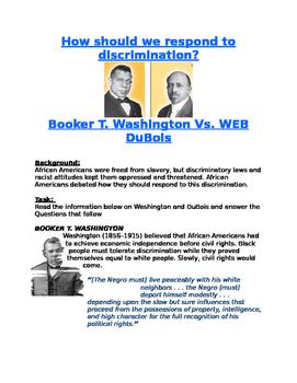 Blacks in the Progressive Era: DuBois Vs. Washington- resp