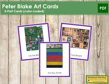 Blake (Peter) 3-Part Art Cards - Color Borders