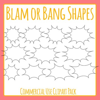 Blam Shapes or Bang Shapes or Attention Getter /Sale / Pop