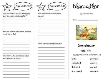 Blancaflor Trifold - Treasures 5th Grade Unit 3 Week 4 (2011)
