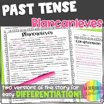 Preterite Imperfect Story Worksheet (Blancanieves/Snow White)