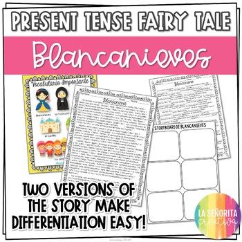 Present Tense Story Worksheet (Blancanieves/Snow White)