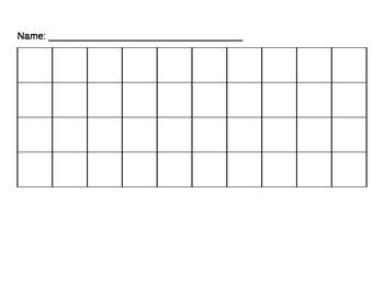 Blank 10 x 4 Chart