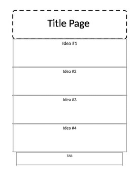 Blank Accordion Book for Interactive Notebooking, Editable