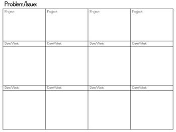 Blank Backmap ~ A Great Way to Plan for STEM Programs! ~FREE~