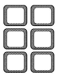 Blank Black Chevron Labels