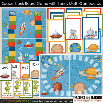 Blank Board Games - Space (File Folder Games) w/ bonus mul