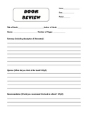 Blank Book Review Form