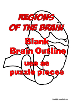 Blank Brain Outline and The Regions of the Brain