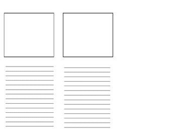 Blank Brochure Template for Student Projects