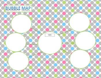 Blank Bubble Map