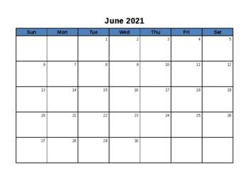 Blank Calendar - June 2016 - June 2017 - EDITABLE