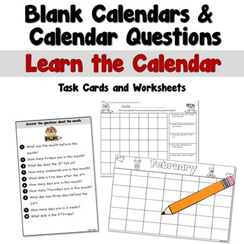 Blank Calendars and Calendar Questions