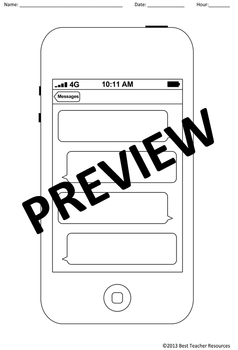 Blank Cell Phone Template - Create Your Own iPhone Messages