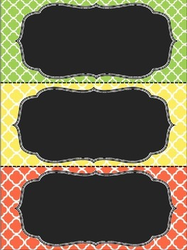 Blank Classroom Labels