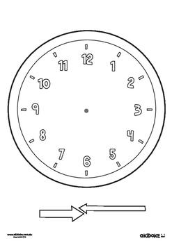 Blank Clock Face Worksheet