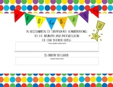 Editable Blank Colorful Student Award