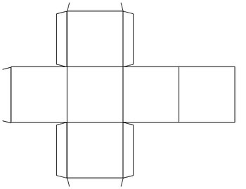 Blank Cube Template for Dice