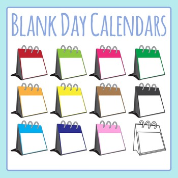 Blank Day Calendars for Special Events Clip Art Set for Co