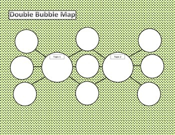 Blank Double Bubble Map