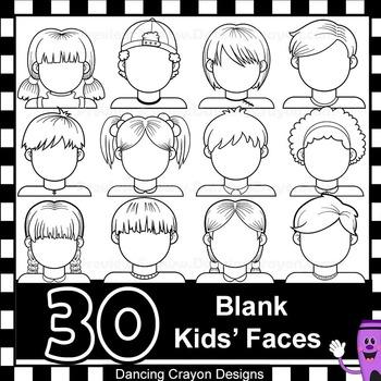 Blank Faces Clip Art