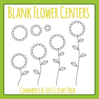 Blank Flowers Clip Art Pack for Commercial Use