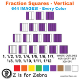 Blank Fraction Square Clip Art 644 Images - Vertical - CU