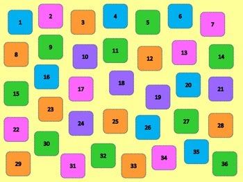Blank Game Board #1-36
