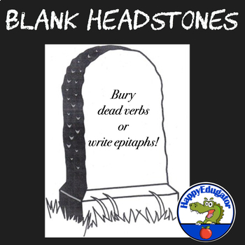 Blank Headstone for Writing Character Epitaphs or Burying