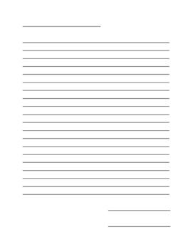 Blank Letter Template *EDITABLE*