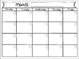 Blank Month-at-a-Glance - Executive Functioning Skills