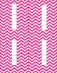Blank Number Frames in Magenta Chevron