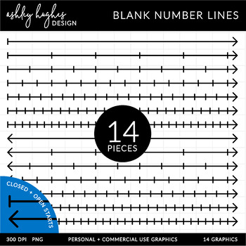 Blank Number Lines {Graphics for Commercial Use}