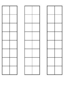Blank Patterning Worksheet