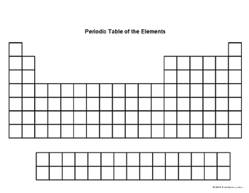 Blank Periodic Table