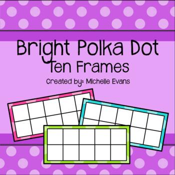 Blank Polka Dot Ten Frame Cards