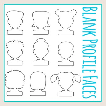 Blank Profile Faces Clip Art Pack for Commercial Use