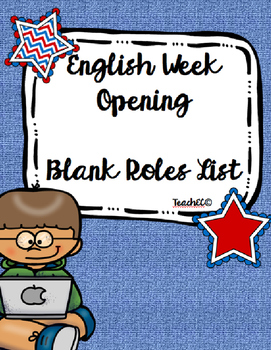 Blank Roles List for English Week Opening