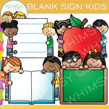 Blank Sign Kids Clip Art
