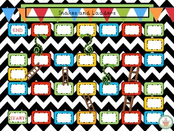 Blank Snakes and Ladders Game Board for Literacy or Math Centers