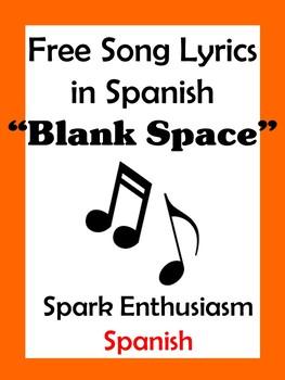 Blank Space Song Lyrics in Spanish