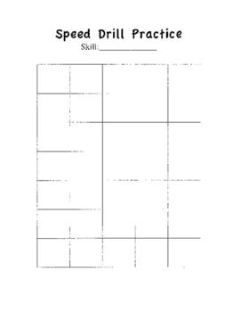 Blank Speed Drill Practice