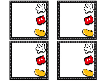 Blank Square Mickey Labels