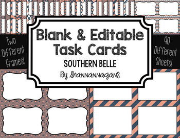 Blank Task Cards - Southern Belle