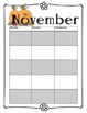 Blank Teacher's Calendar - Month Themes